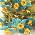 立体的な花のモチーフ