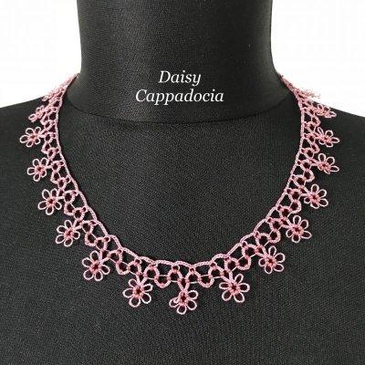 画像1: メキッキオヤ ネックレス スモールフラワー ピンク