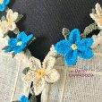 画像2: イーネオヤ ネックレス プルメリア ブルー&ホワイト (2)