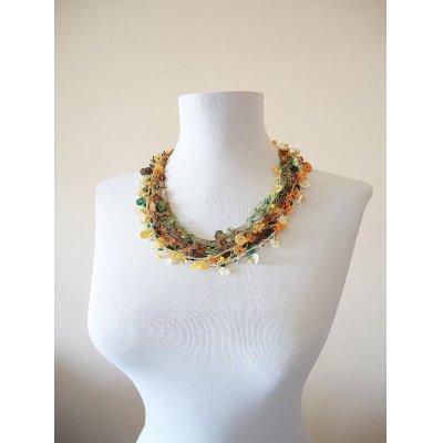 画像4: ビジューの刺繡ネックレス フラワー・ジュエル フォレスト