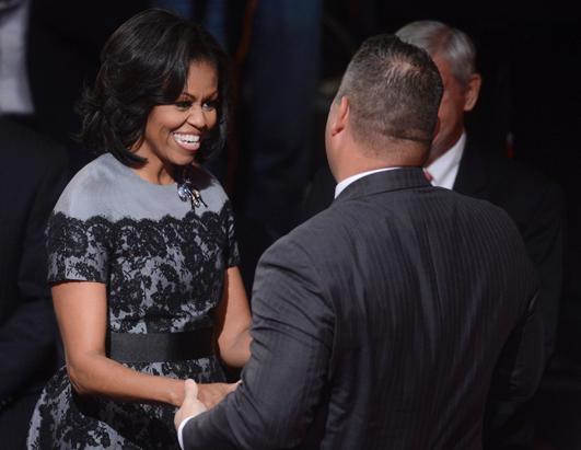 ミシェル・オバマ夫人のレースドレス