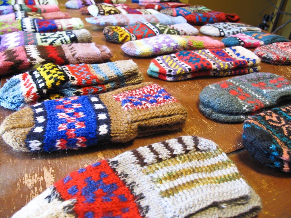手編み小物の季節